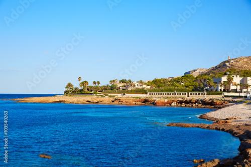 Denia Las Rotas Punta Negra beach in Alicante Poster