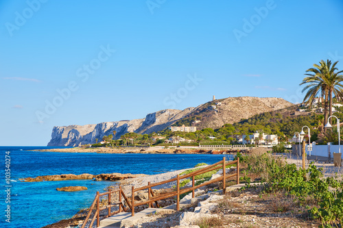 Denia Las Rotas beach in Mediterranean Spain Plakat