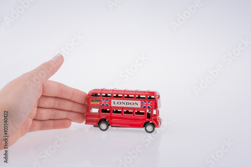 Poster  London Bus and hand