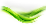 Awesome Art Abstract Green Wave Design - 103542494