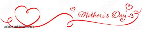 Zdjęcia na płótnie, fototapety, obrazy : Heart-shaped Ribbon - Mother's Day