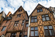 Facades of half-timbered houses in Tours, France