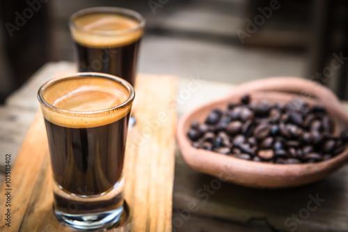 Poster Double shot Espresso Coffee