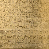 Ancient egyptian hieroglyphs on the wall