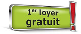1er loyer gratuit sur panneau vert