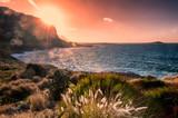 Sicilia - Palermo - panoramica da Sferracavallo - belvedere con isolotto delle Femmine in lontananza