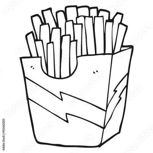 Black And White Cartoon French Fries Buy Photos Ap Images