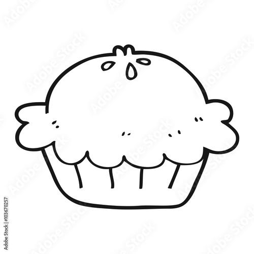 czarno-białe ciasto kreskówka