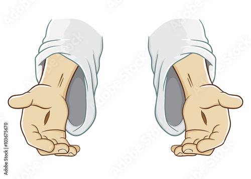 Zdjęcia na płótnie, fototapety, obrazy : Jesus Christ Hand Reaching Out