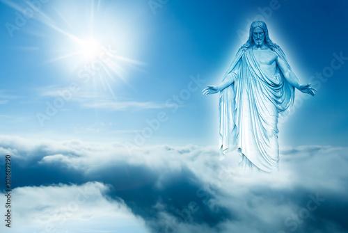 Zdjęcia na płótnie, fototapety, obrazy : God looks down from heaven concept of religion