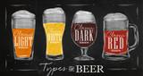 Fototapety Poster types beer