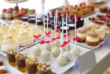 Desserts on a table at a ceremony