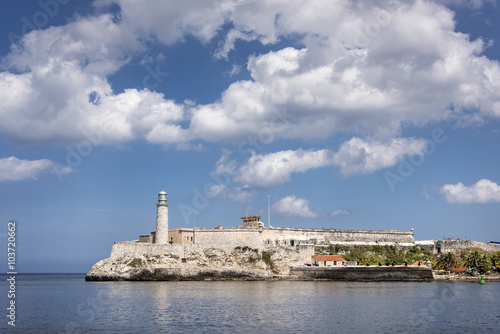 Poster Blick auf Castillo de los Tres Reyes del Morro Havanna