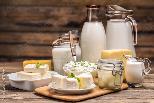 Póster Still life with dairy product