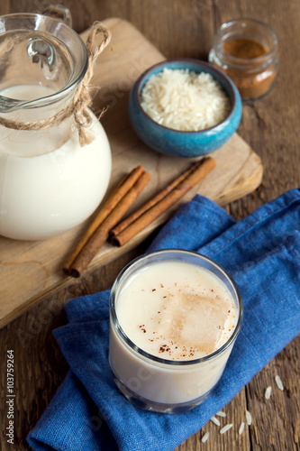 Horchata with cinnamon