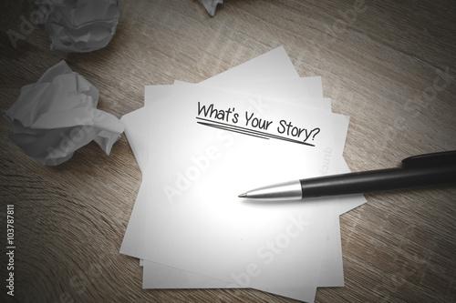 Quelle est votre histoire Poster