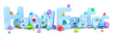 Happy Easter background with colorful eggs