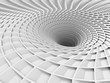 Abstract White Tunnel Hole Background
