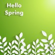 Spring background with flower silhouette