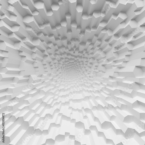 fototapeta na ścianę White geometric abstract polygons backdrop