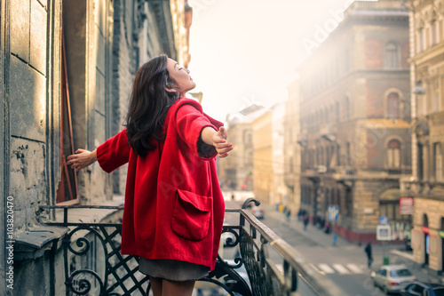 Poster The red coat