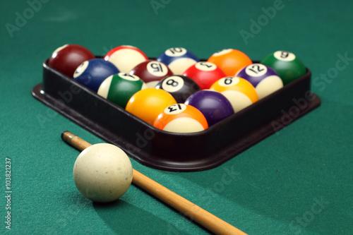 Staande foto Billiard balls