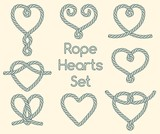 Set of rope hearts decorative knots - 103826491