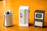 Fototapety 家電製品 冷蔵庫 洗濯機 テレビ 三種の神器 白物家電