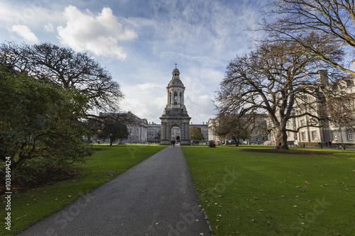 Poster DUBLIN -JANUARY 12: Trinity College on January 12, 2015, Dublin.