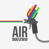 Fototapety Airbrush or spray gun vector.