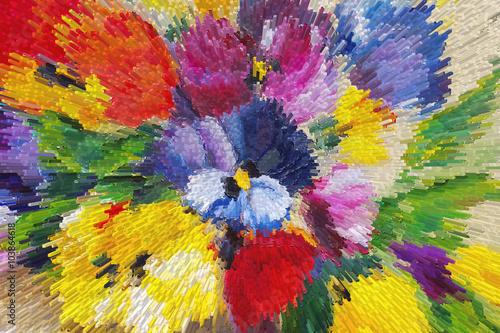 Obraz Texture oil painting, flowers, art, painted color image, paint