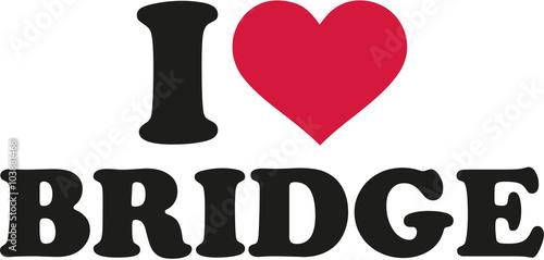 Obraz na Plexi I love bridge