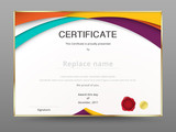 Modern certificate appreciation template. diploma design. vector