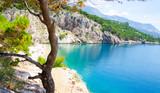 amazing beach in Makarska Riviera, Dalmatia, Croatia - 103892877