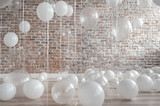 Fototapety White And Transparent Balloons