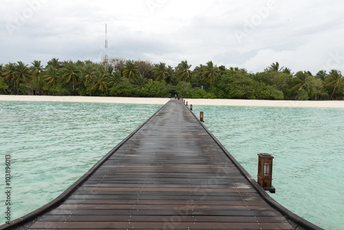 Poster Overwater Bungalows Boardwalk
