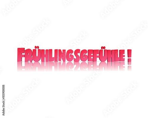 Zdjęcia na płótnie, fototapety, obrazy : Frühlingsgefühle 3d wort