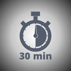 30 minutes stopwatch symbol, Timer icon