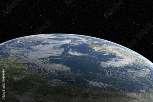 Fotobehang Heelal Planet Earth from space at beautiful sunrise
