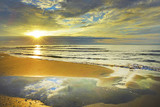 Camargue, alba sulla spiaggia