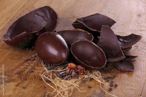 Uova di Pasqua ala cioccolato fondente