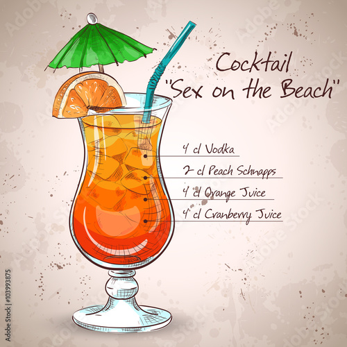 Sex on the Beach mixed drink Poster