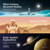 Fototapety Web banners on the theme of astronomy