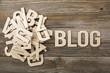 Mucchio di lettere BLOG