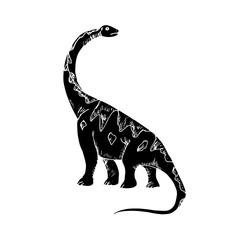 Dinosaur black silhouette