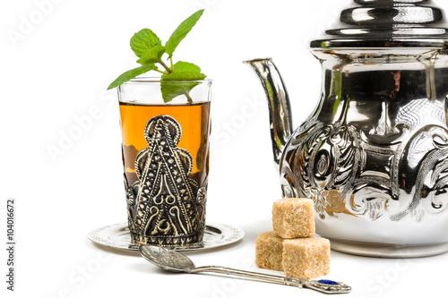 Papiers peints Maroc Traditional Arabic mint tea