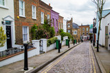 Fototapety London street of typical small 19th century Victorian terraced houses