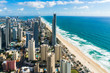 Aerial of Surfers Paradise city and beach, Gold Coast, Australia