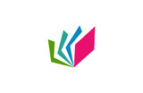 colorful book logo