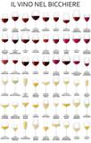 il vino nel bicchiere